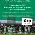 FC Groningen – PSV for only €10,-!