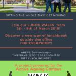 Doe mee aan de Lunch Walks tijdens de Healthweek!
