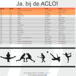 Our schedule at www.kaniknusporten.nl!