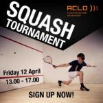 Participate in the squash tournament on the 12th of April!