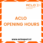 Opening hours ACLO Sports Center January 11-15