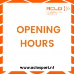 Openingstijden ACLO Sportcentrum