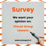 Enquête: virtuele groepslessen